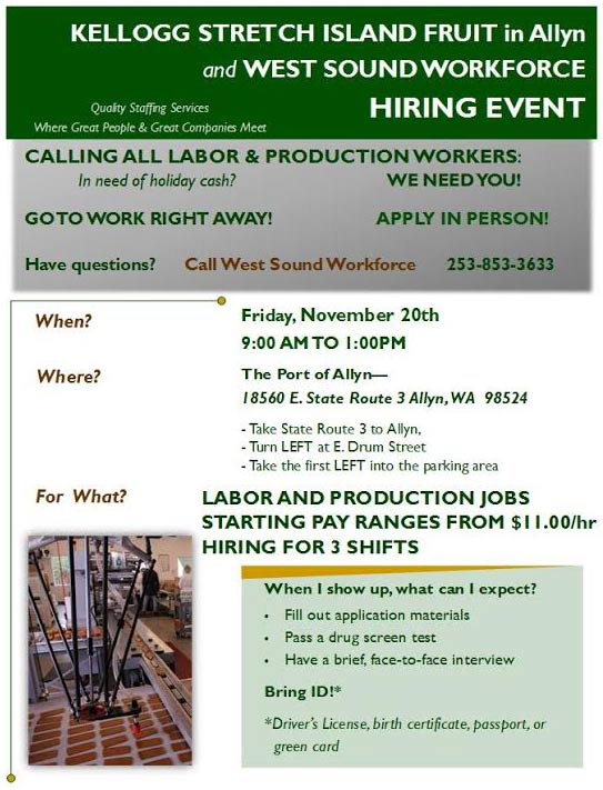 Allyn Port Job Fair Flyer